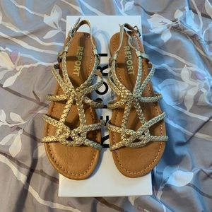 NEW! Gold Report Sandals